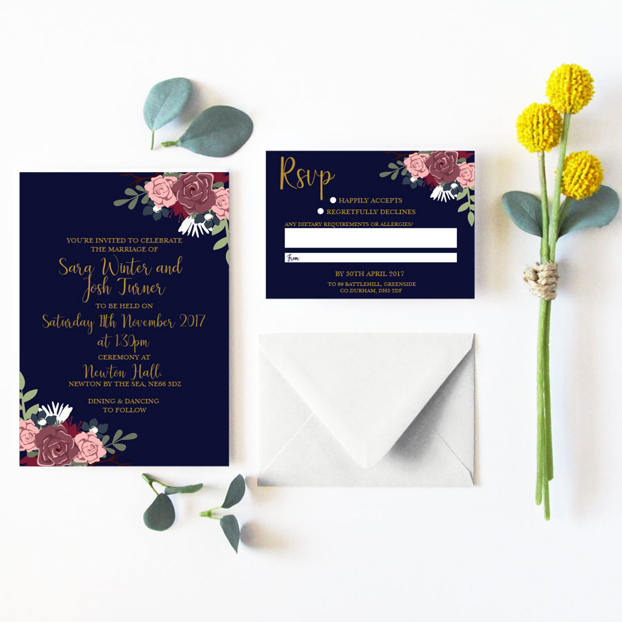 Rosie invitation set