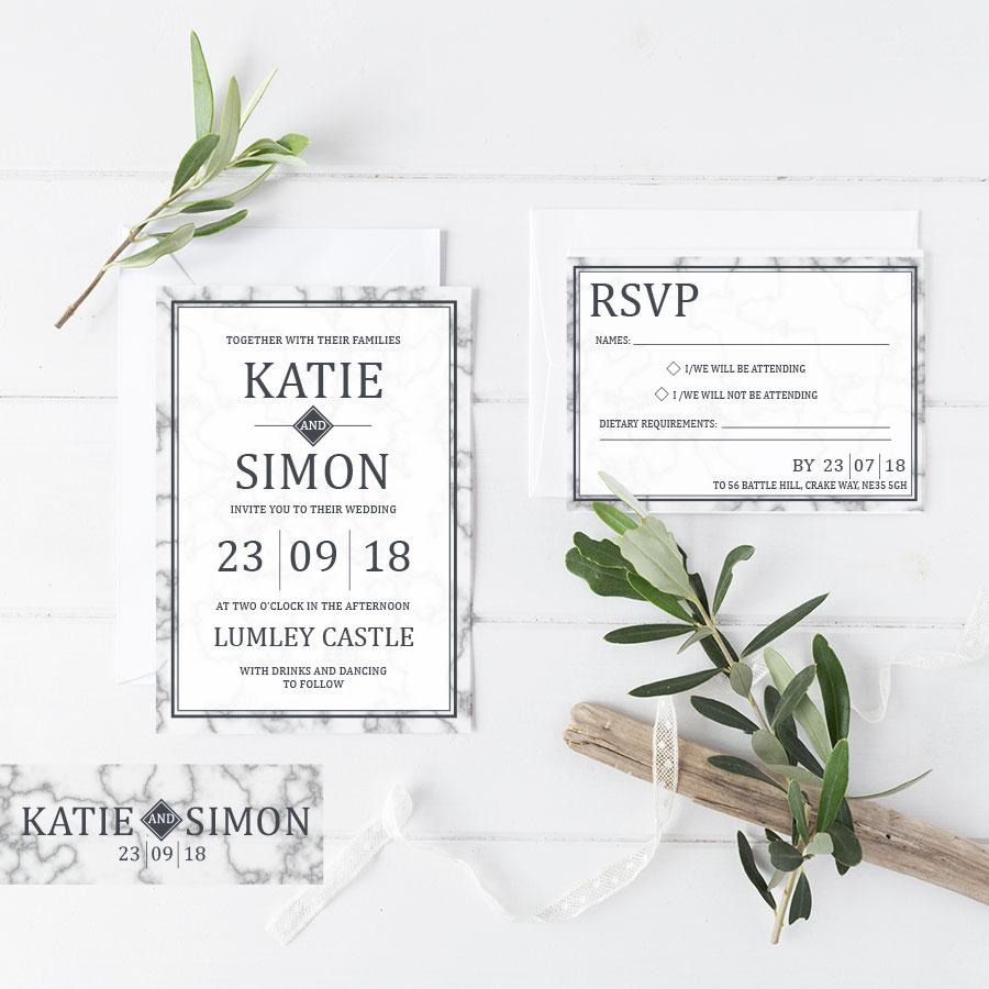 Marble Slate Invitation
